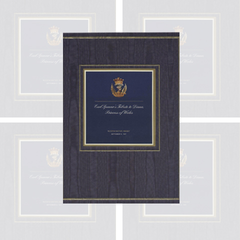 Earl Spencer's Tribute Book