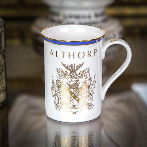 Fine English Bone China Althorp Crest Mug