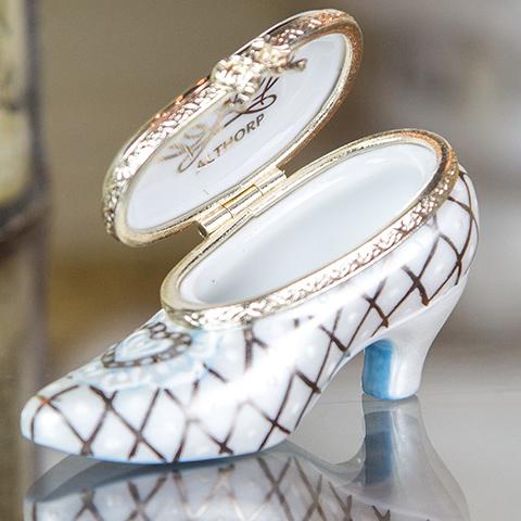 Limoges Shoe Porcelain Box